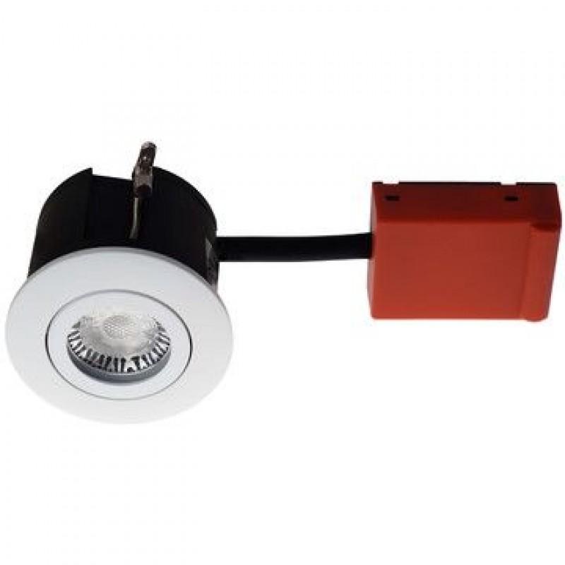 Daxtor Udendørsspot Easy 2-Change, Ø87, H63mm, Rund, Mat Hvid, Ekskl. lyskilde