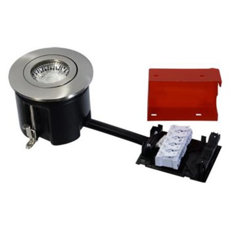 Daxtor Easy 2-Use, Ø87, H68mm, Rund, Børstet Stål, Ekskl. lyskilde