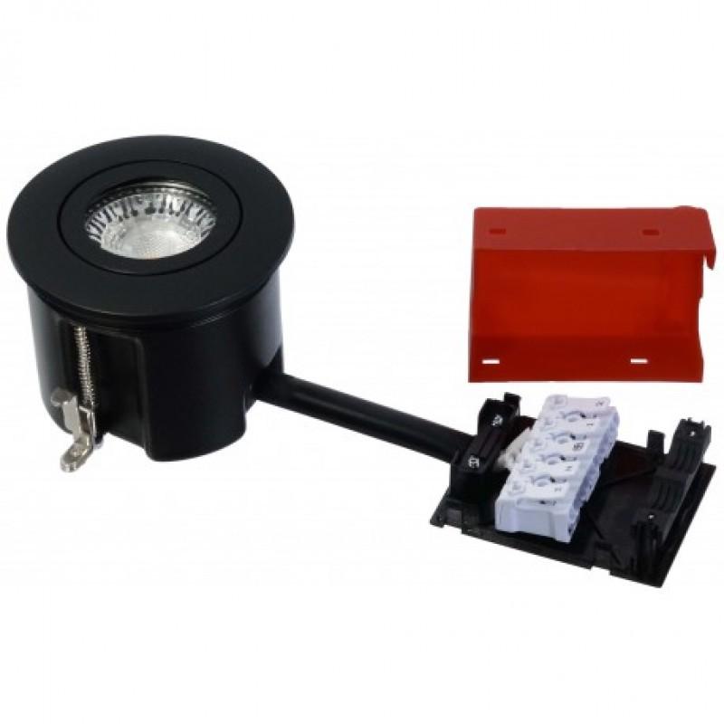 Daxtor Easy 2-Use, Ø87, H68mm, Rund, Mat Sort, Ekskl. lyskilde