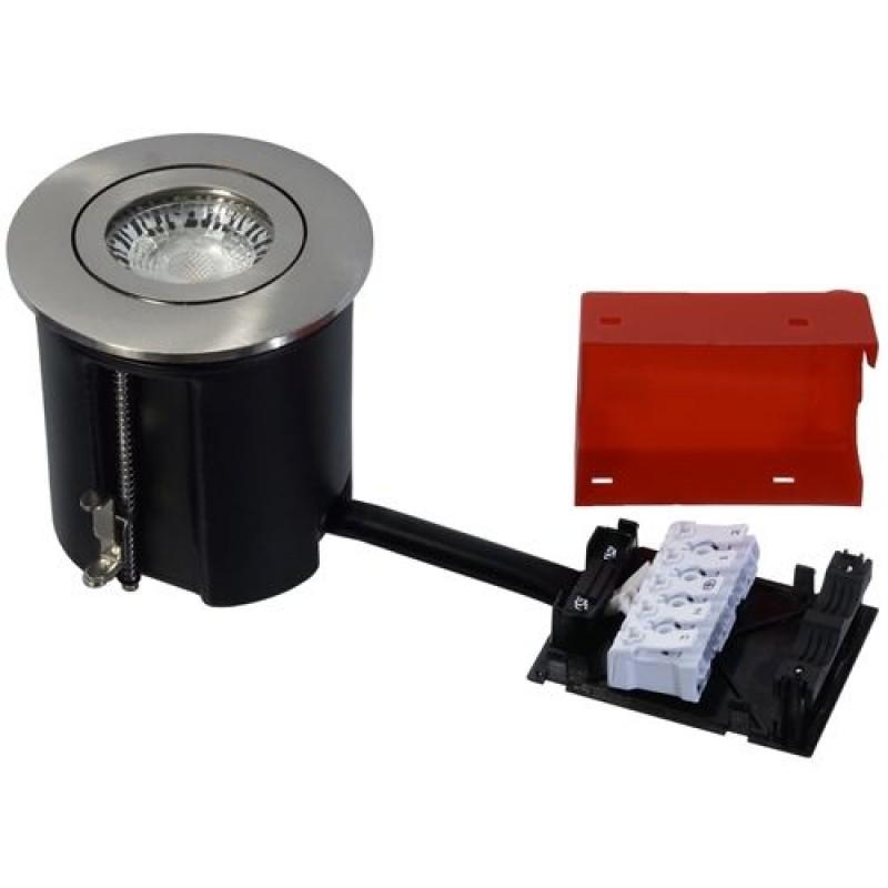 Daxtor Easy 2-Use, Ø87, H100mm, Rund, Børstet Stål, Ekskl. lyskilde