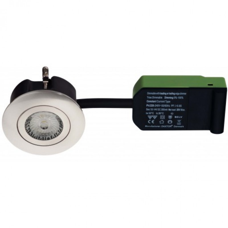 Daxtor Easy 2-Use, Ø87, H38mm, Rund, Børstet Stål, Inkl. lyskilde 2700 kelvin