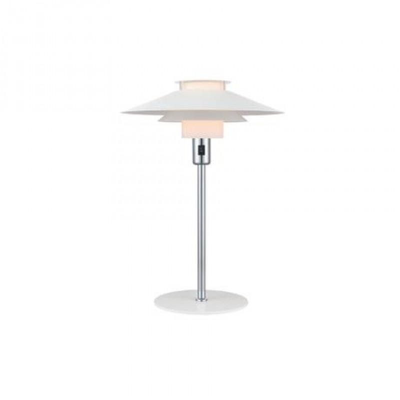 Halo Design Rivoli Bordlampe Ø40 Hvid-Krom