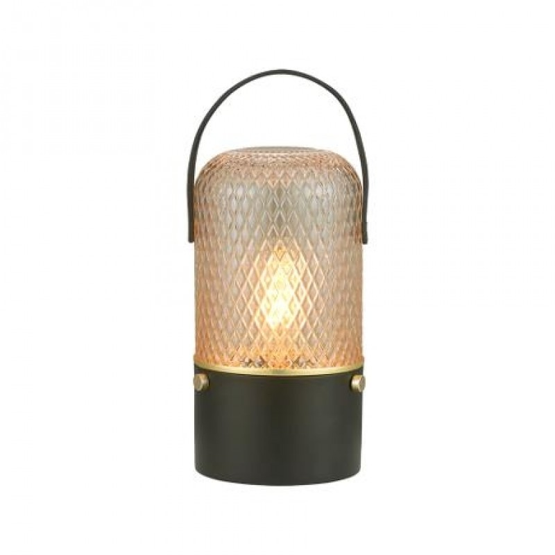 Halo Design Amber Bordlampe Smoke