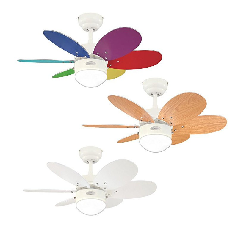 Westinghouse Loftventilator i farver + hvid m/snor Ø76cm