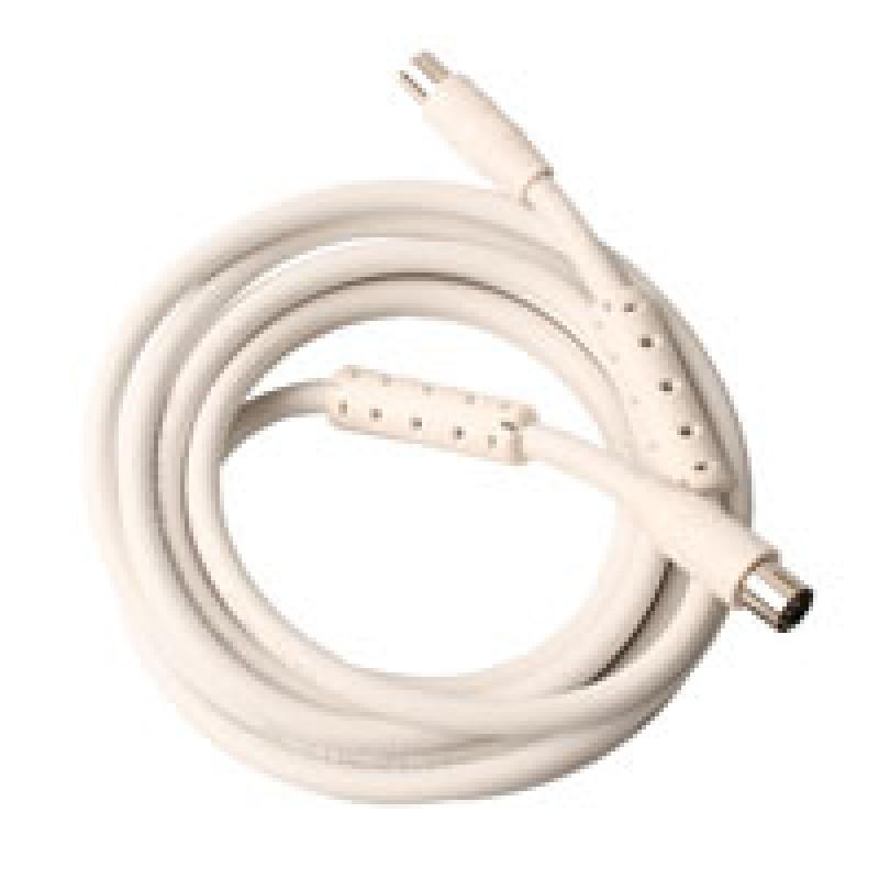 Antenneledning m/stik HF-tæt 3 m. hvid