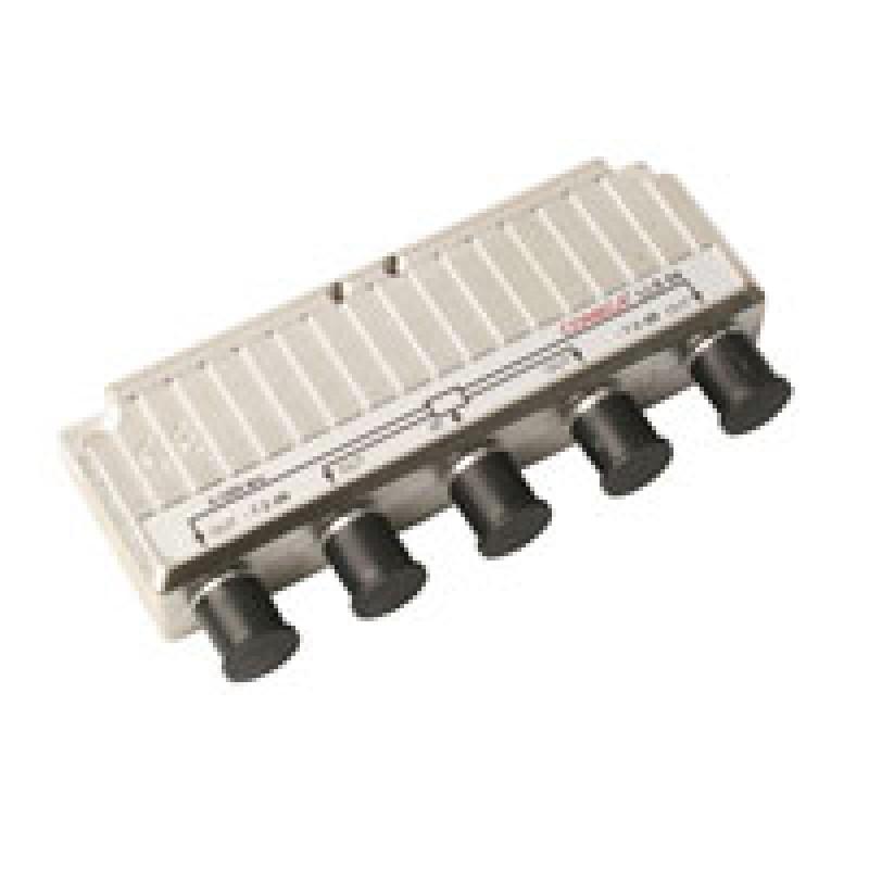 Signalfordeler 1 ind - 4 ud m/DC pass