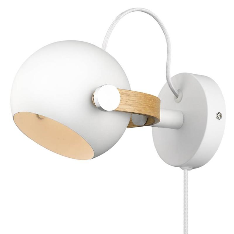 Halo Design D.C Væglampe ø12 G9, hvid / eg