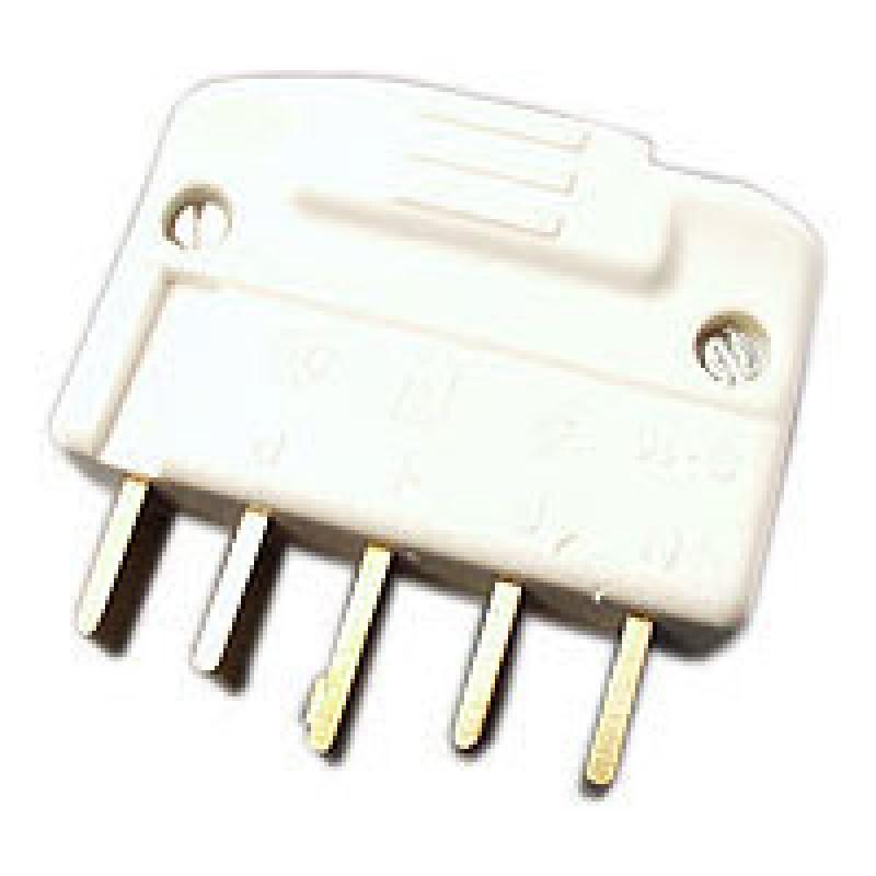 Stikprop S16 440V 3P+N+J lige, hvid