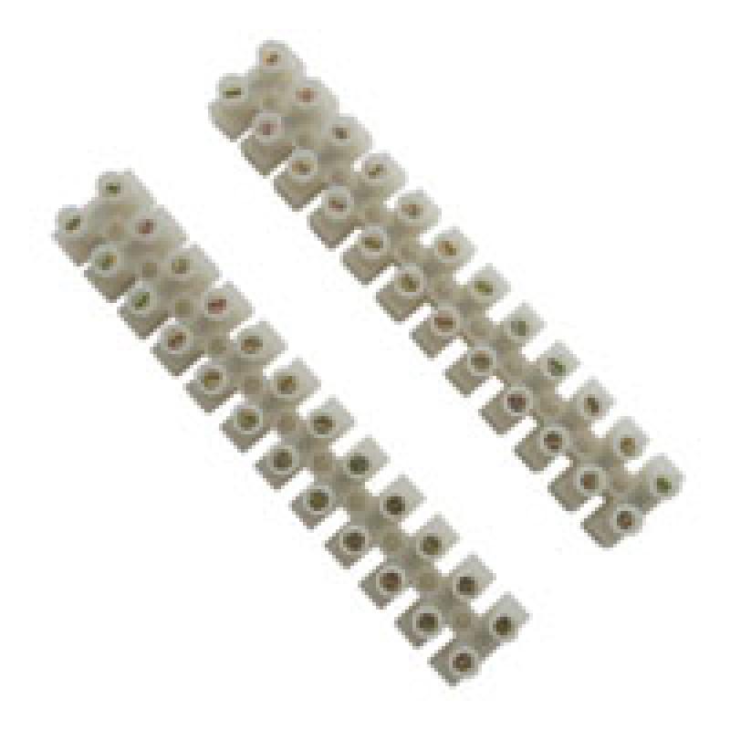 Klemrække 2,5mm² 12-pol (2-stk) neutral