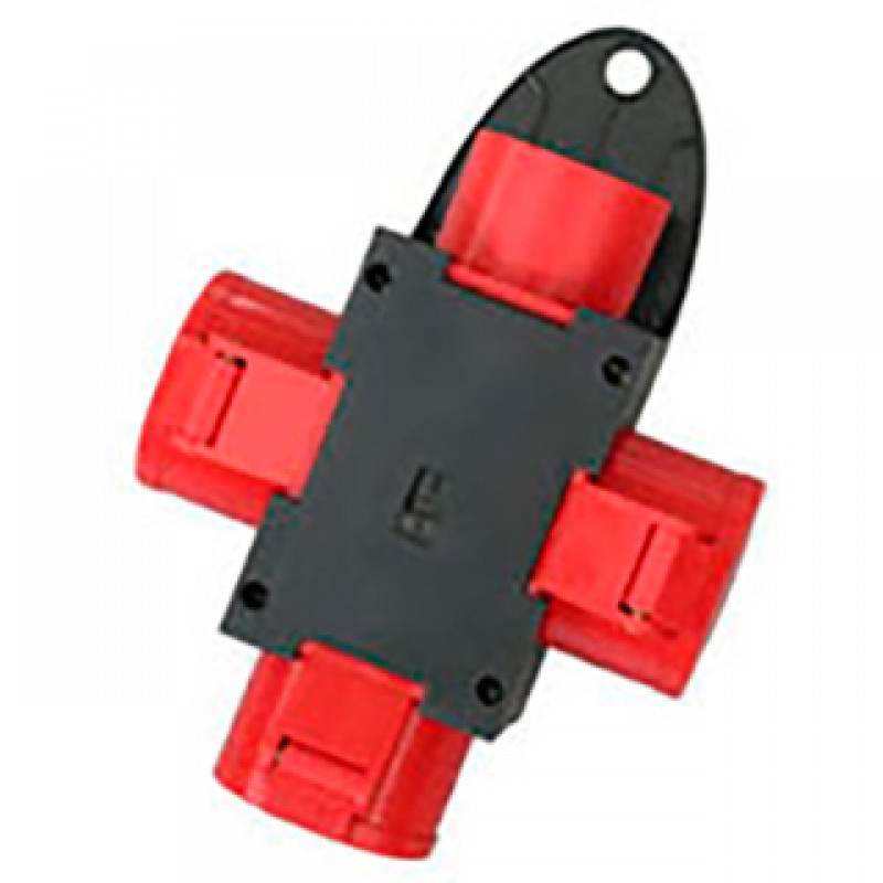 CEE kompaktforgrener, 400V/16A 3udt. rød