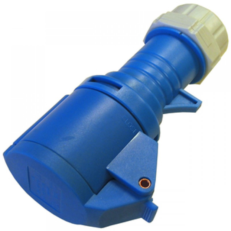 CEE forlængerled 16/250V IP44, blå