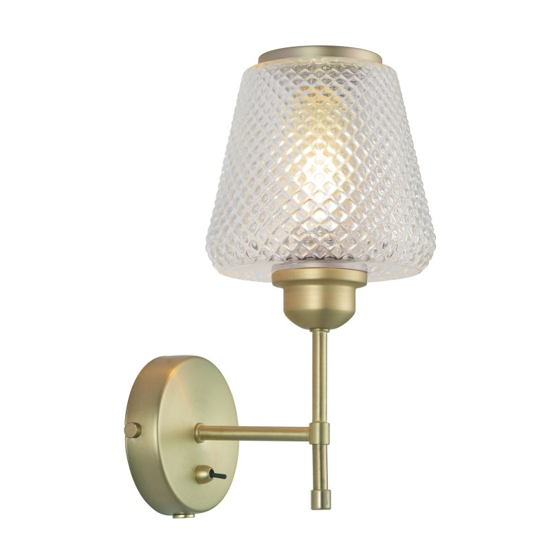 WATT A LAMP DAMN FASHIONISTA Væglampe Ø15 klar/messing