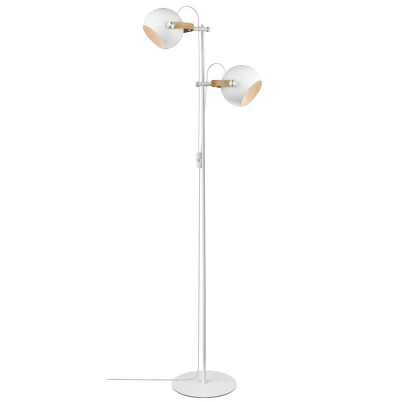 Halo Design D.C Gulvlampe 2L ø18 E27, hvid / eg