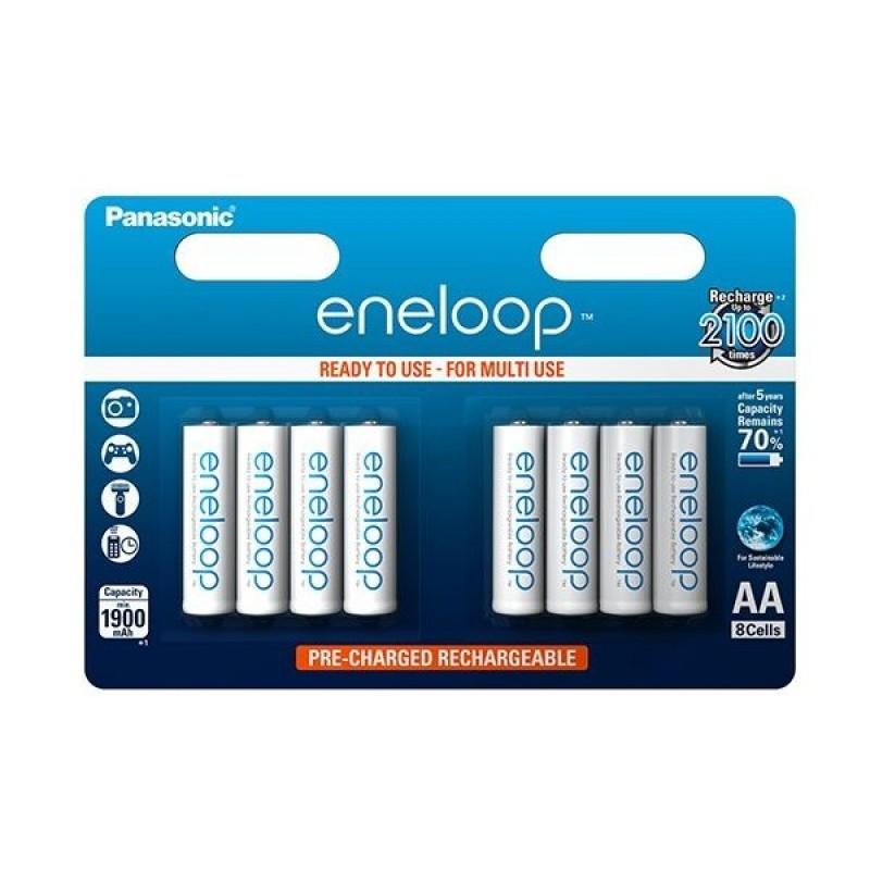 Panasonic eneloop AA / R06 genopladelige batteri - 8 Stk. - 2100 opladninger