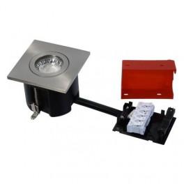Daxtor Easy 2-Use, 87x87, H68mm, Square, Børstet Stål, Ekskl. lyskilde-20