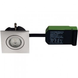 Daxtor Easy 2-Use, 87x87, H38mm, Square, Børstet Stål, Inkl. lyskilde 2700 kelvin-20