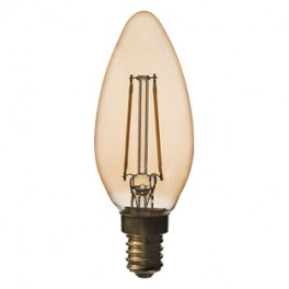 LED KERTE ANTIQUE 3W E14 210LM 2200K-20