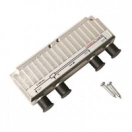 Signalfordeler 1 ind 3 ud m/DC pass-20