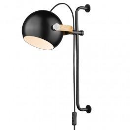 Halo Design D.C Væglampe ø18 long E27, sort / eg-20