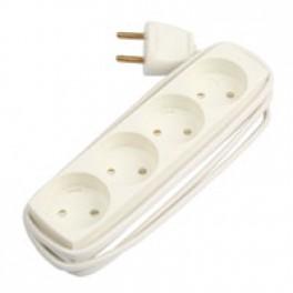 Stikdåse T4 4 udtag u/j 1,5m hvid-20