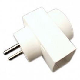 Dobbeltstik D3 1F+1R udtag hvid-20