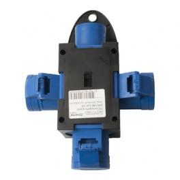CEE kompaktforgrener 230V/16A 3udt. blå-20