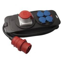 CEE/DK Kompaktforgrener, 400V/16A+4DK-20