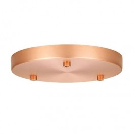 Roset til 3 lamper kobber Ø22-20