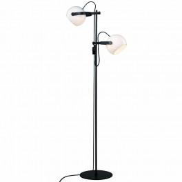 Halo Design D.C gulvlampe 2L ø18 E27, Opalic m, eg-sort-20