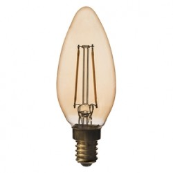 LED KERTE ANTIQUE 3W E14 210LM 2200K