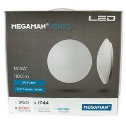 RENZO LED LAMPE 10,5W IP44 HVID