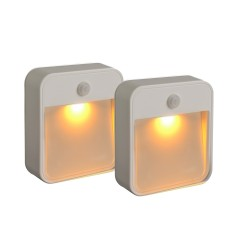 Mr Beams Stick Anywhere Light Amber LED Hvid 2-Pak