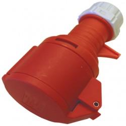 CEE forlængerled 16/400V IP44, rød