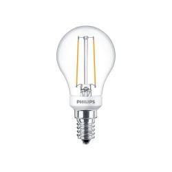 Philips LED Klar Kronepære 2,7W E14 P45 250LM 2700K Dæmpbar