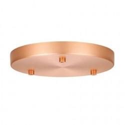 Roset til 3 lamper kobber Ø22