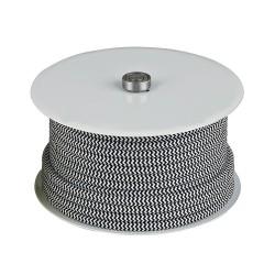 Stofledning sort/hvid stribet