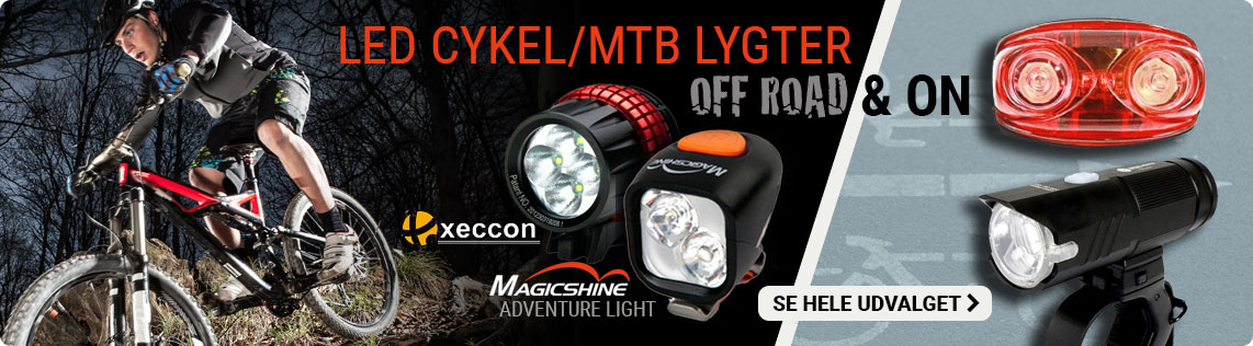 Prolamps - Godkendte cykellygter, Mountainbike lygter